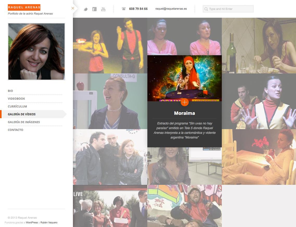 Raquel Arenas - Galería de Vídeos 1